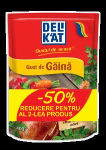 Baza pentru mancaruri cu gust de gaina Delikat 2x400g