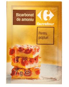 Bicarbonat de amoniu pentru prajituri Carrefour 7g