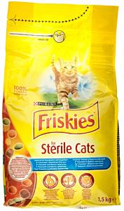 Hrana uscata cu somon si legume Friskies for Sterile Cats 1.5kg