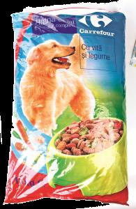 Hrana uscata vita si legume Carrefour 10kg