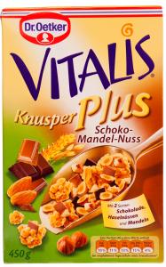 Musli extra crocant cu nuci Dr. Oetker Vitalis 450g
