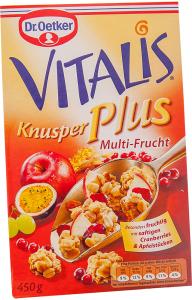 Musli extra crocant multi fruct Dr. Oetker Vitalis 450g