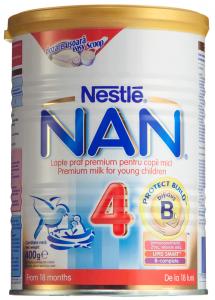 Lapte praf premium pentru copii mici cu Protect Build Nestle Nan 4 400g