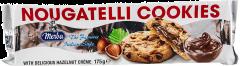 Biscuiti cu ciocolata neagra si crema de alune Merba 175g