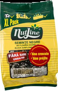 Seminte negre de floarea soarelui prajite fara sare Nutline 300g