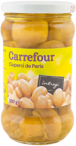 Ciuperci de Paris intregi Carrefour 280g
