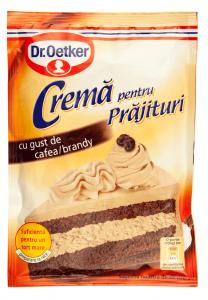 Crema pentru prajituri cu gust de cafea brandy Dr.Oetker 50g