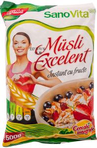 Musli instant cu fructe SanoVita Excelent 500g