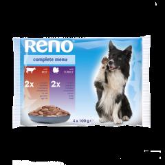 Meniu complet pentru caini Reno 4x100g