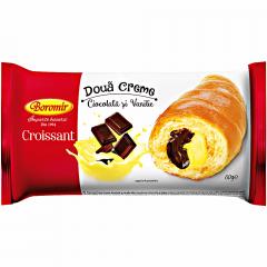 Croissant cu ciocolata si vanilie Boromir 60g