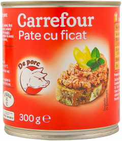 Pate cu ficat de porc Carrefour 300g
