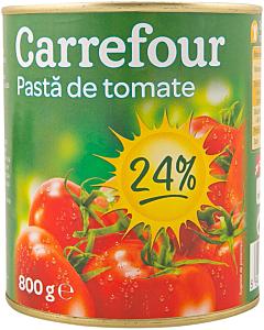 Pasta de tomate 24% Carrefour 800g