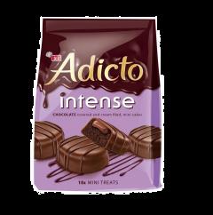 Prajitura cu crema si glazura de ciocolata Adicto 144g