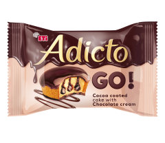 Prajitura cu crema si glazura de cacao Adicto 45g