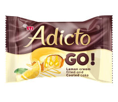 Prajitura cu crema lamaie si glazura lamaie Adicto 45g