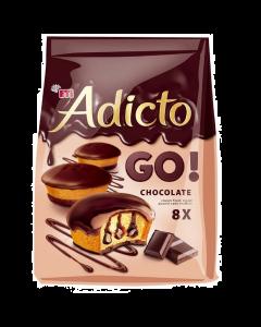 Prajitura cu crema si glazura de cacao Adicto 144g