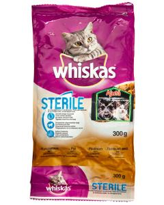 Hrana uscata completa cu pui pentru pisici adulte Whiskas Sterile 300g