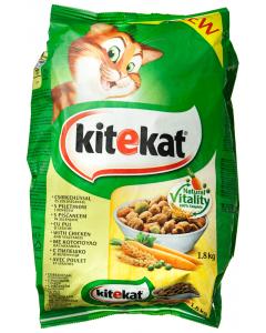 Hrana uscata pentru pisici cu pui si gust de legume KiteKat 1.8kg