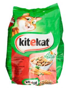Hrana uscata cu vita pentru pisici adulte KiteKat 1.8kg