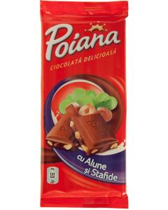 Ciocolata cu alune si stafide Poiana 90g
