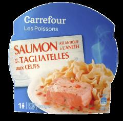 Somon Atlantic cu marar si tagliatelle cu ou Carrefour 300g