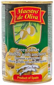 Masline verzi cu ansua Maestro de Oliva 300g