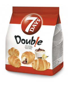 MiniCroissant cu umplutura de vanilie si cacao 7Days Double 60g