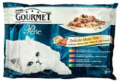 Hrana umeda pentru pisici Gourmet Perle Delicate Meats Duo 340g