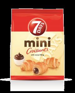 Mini croissant cu crema de vanilie si cirese 7Days Double 60g