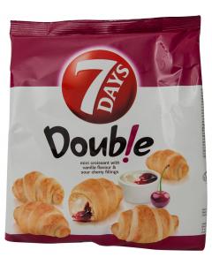 MiniCroissant cu umplutura de vanilie si visine 7Days Double 185g