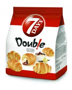 MiniCroissant cu umplutura de vanilie si cacao 7Days Double 185g