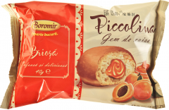 Briosa cu crema de caise Boromir Piccolina 40g