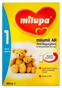 Formula speciala de lapte pentru sugari Milupa Milumil AR 1 300g