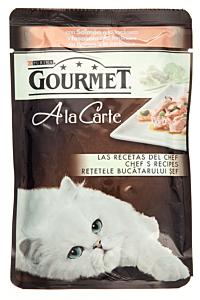 Hrana umeda cu somon pentru pisici Gourmet A la Carte 85g