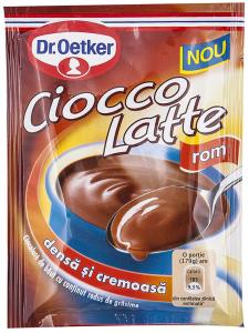 Ciocolata de baut cu aroma de rom Dr.Oetker 25g