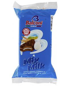 Miniprajitura cu glazura de cacao si umplutura de lapte Balconi Mix Milk 35g