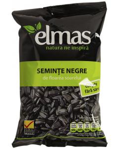 Seminte negre de floarea soarelui coapte fara sare Elmas 220g