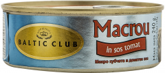 Macrou in sos tomat Baltic Club 240g