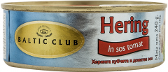 Hering in sos tomat Baltic Club 240g