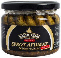 Sprot afumat in ulei vegetal Baltic Club 250g