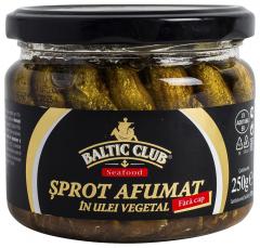 Sprot afumat in ulei vegetal Baltic Club 250g
