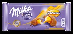 Ciocolata cu lapte si umplutura de caramel Milka 100g