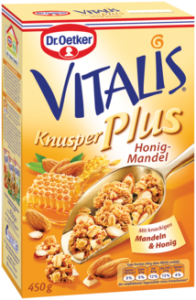Musli extra crocant miere-migdale Dr.Oetker Vitalis Knusper Plus 450g