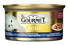 Hrana completa pt pisici cu peste oceanic in sos Purina Gourmet Gold 85g
