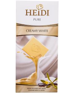 Ciocolata alba cu vanilie Heidi 100g