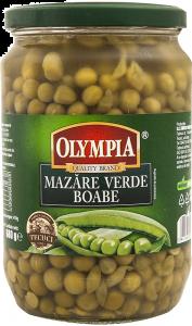 Conserva mazare verde boabe Olympia 720ml