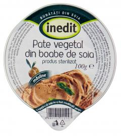 Pate vegetal cu masline din boabe de soia Inedit Helvet 100g