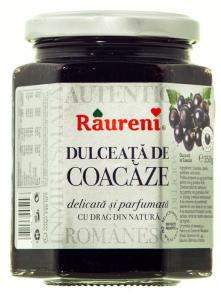 Dulceata de coacaze Raureni 350g