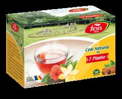 Ceai natural din 7 plante Fares Ceaiurile Lumii 36g