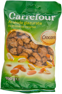Arahide prajite cu caramel Carrefour 180g
